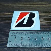 Cutting Sticker Logo B Bridgestone kecil 4cm bahan Oracal