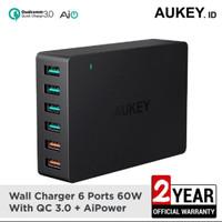 Aukey charger 6 ports 60W QC 3.0 & AiQ ORIGINAL