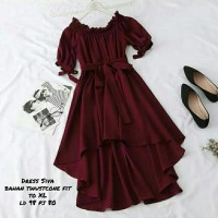 ms fashion wanita termurah dress siva pakaian berkualitas untuk wanita - Maron