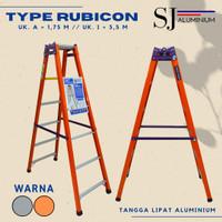 Tangga Lipat Aluminium Rubicon Orange 1,75 M / 175 CM - Tebal & Kokoh