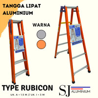 Tangga Lipat Aluminium Rubicon Orange 1,5 M / 150 CM - Tebal & Kokoh