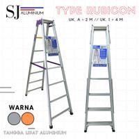 Tangga Lipat Aluminium Rubicon 2 M / 200 CM - Bahan Tebal & Kokoh