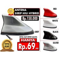 Antena Mobil Model Hiu Aktif Universal Hybrid Red  TDC Variasi