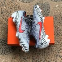 Sepatu Bola Nike Mercurial 12 Elite White Grey FG