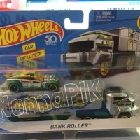 PROMO HOT WHEELS 2018 SUPER RIGS BANK ROLLER W/VEHICLE INCLUDED BEST