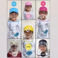 Topi Anti Corona / Face Shield Anak Trendy Warna Warni (Baseball Hat) - Kuning