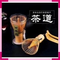 Bo Zhu Kuas Pengaduk Matcha Green Tea Bamboo Whisk Brush CJ110