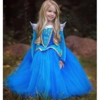 Baju Dress Anak Princess Aurora blue costume kostum costplay