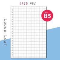 KERTAS BINDER HVS-GRID B5/26 HOLES LOOSE LEAF ISI 50 LEMBAR
