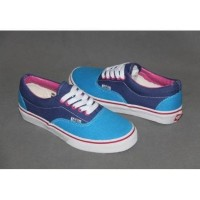 Vans Era Classic Blue Pink Klasik Biru Merah Muda Sepatu Wanita Cewek