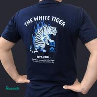 Tshirt Kaos Baju distro Rusands Byakko Tiger macan