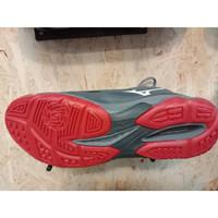 Sepatu VOLLY BADMINTON MIZUNO THUNDER BLADE grey red