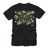 Baju Kaos Legend of Zelda Hyrule Flowers T-Shirt