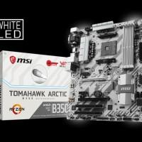 TM Motherboard MSI B350 TOMAHAWK ARCTIC socket AM4 Murah