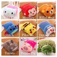 Boneka Bantal Selimut 2in1 Balmut Stitch Totoro Pikachu Doraemon New