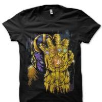 Kaos 2113 Thanos Infinity Gauntlet Black T-Shirt