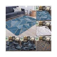 Karpet Ruang Tamu Geometris Karpet Emas Kisi Nordic Carpet 120x160cm