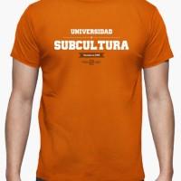 Kaos University Of Subculture (Orange) T-Shirt