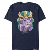 Baju Kaos Marvel Geometric Thanos T-Shirt