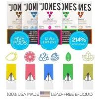 The Jones 1.2ml x5pods JUUL Compatible