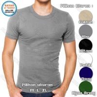 Kaos Oblong Pria Agree / Kaos Dalam / Body Shirt / T-Shirt Comfort