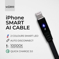 MENO iPhone Cable Auto Disconnect Apple X Xs Max 8 7 6 charger Kabel