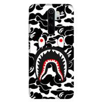 casing bape shark xiaomi note 8 pro 8 7 6 5 mia1 mia2 redmi 8 8a 7 7a
