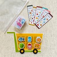Pretend Play Belanja (dengan Magnet dan Kartu)