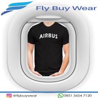 AIRBUS Aircraft Baju Kaos T-Shirt Penerbangan Pesawat Airbus Aircraft