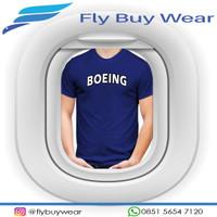 BOEING Aircraft Baju Kaos T-Shirt Penerbangan Pesawat BOEING Aircraft
