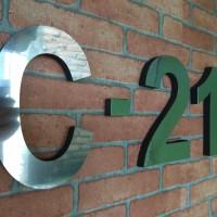 Nomor (0-9) nama angka rumah atau apartement stainless steel Uk. 15CM