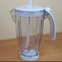 Gelas blender Philips jus buah atau jar plastik diva lengkap HR 2115 /