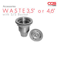 "CGS Waste/Afur 4,6"" with S/S Basket"