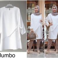 Tunik jumbo putih 0787 / baju atasan muslim