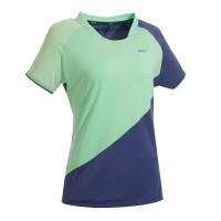 Perfly Kaus Badminton Wanita 530 Abu-abu Hijau Decathlon 8572805