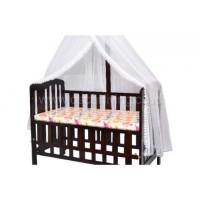 Kelambu Baby Box - Putih - Lis Hijau