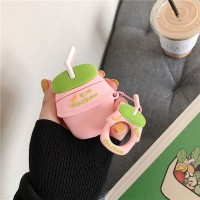 DOU Banana Strawberry Milk Bottle Protective Case Silicone Cover for