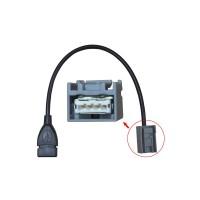 Kabel USB AUX MP3 Audio Input untuk Mobil Honda CRV Accord Civic