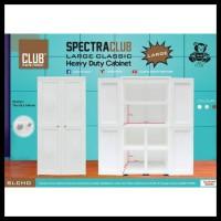 Banting Harga Lemari Pakaian Plastik Club Spectra Large