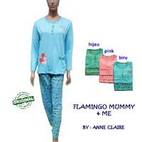 FLAMINGO MUMMY BajuTidur / Piyama Wanita Lengan Panjang Anne Claire