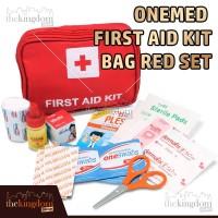 OneMed First Aid Kit Bag Red Set Tas Obat P3K Pouch Travel