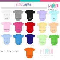 Jumper Bayi Miabelle Bodysuit 0-6 Bulan Polos