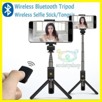 Wireless Tripod Tongsis Android iPhone Bluetooth Hp Selfie Xiaomi oppo