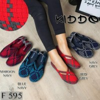 Kiddo F595 Sepatu Anyaman Rajut Wanita Ori Kualitas Terbaik