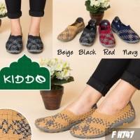 Kiddo H747 Sepatu Import Anyaman Rajut Wanita Ori Kualitas Terbaik