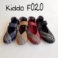 Kiddo F020 Sepatu Import Anyaman Rajut Wanita Ori Kualitas Terbaik
