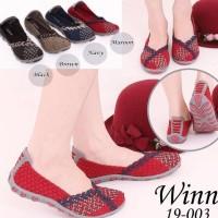 Winn 19-003 Sepatu Import Anyaman Rajut Wanita Ori Kualitas Terbaik