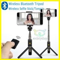Wireless Tripod Tongsis Android iPhone Bluetooth Hp Selfie Xiaomi vivo