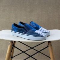 Sepatu Vans X FDMTL 10th Japanese Patchwork Slip On Navy Blue White