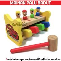 Mainan Edukasi Anak Palu Badut Ketok Balok Kayu Loncat Clown Hammer